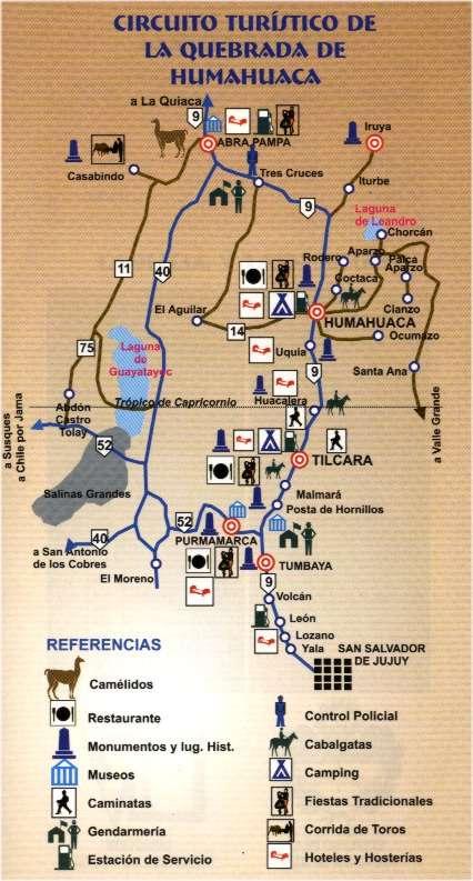 Circuito Turistico : Circuitos turísticos de jujuy